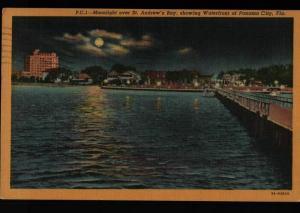 Panama City FL Peoria IL Cooper's News St Andrew's Bay Water Postcard E02
