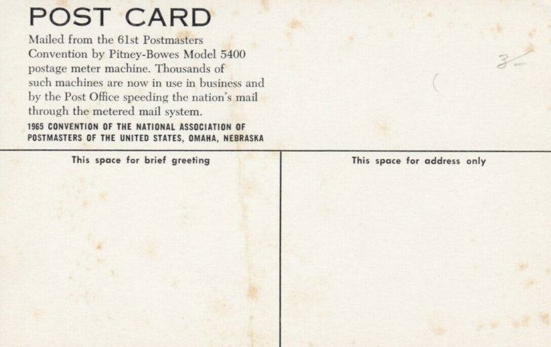 OMAHA , Nebraska , 50-60s Postmasters Convention, Pitney Bowes Machine