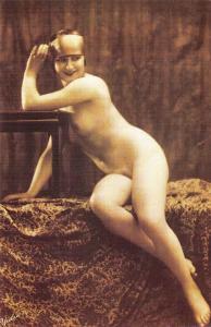 Nostalgia Postcard c1925 Edwardian Female Pin Up Risque Nude Repro Card NS1