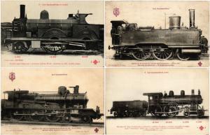 CHEMIN DE FER FRANCAISE TRAIN RAILWAY LOCOMOTIVES 39 CPA pre 1950 ALL F.F.