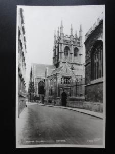Oxford MERTON COLLEGE - Old RP Postcard by Walter Scott F399