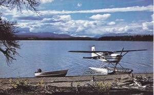Front propeller water plane at Chief Louis Lake, south of Burns Lake, British...