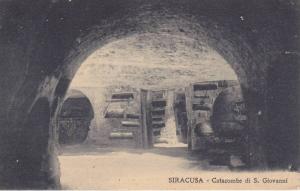 Siracusa , Italy, 1900-1910s : Catacombe di S. Giovanni