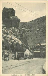 Albertype Bisbee Arizona Castle Rock 1920s RPPC Photo Postcard 5715