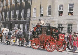 Bath Royal Mail Coach On Opening Day Of Museum 1979 Postcard