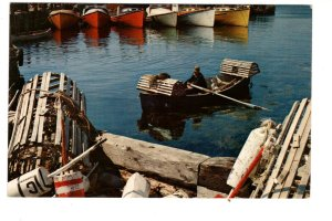 Fisher in Rowboat, Lobster Cages South Shore, Nova Scotia
