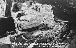 NY - Jefferson County. Long Sault Spillway Dam Construction. St Lawrence Seaw...
