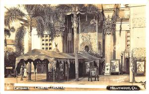 Hollywood CA Entrance Chinese Theatre Movie Posters RPPC Postcard