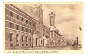 Bari (Apulia region), ITALY , Lungomare Nazazio Sauro-Palazzo delle Opere Pub...