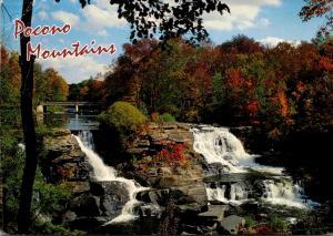 Pennsylvania Pocono Mountains Autumn Scene Along Big Bushkill Creek