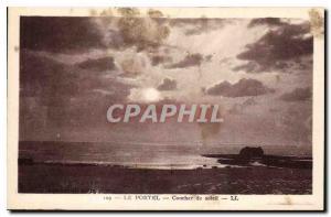 Old Postcard Le Portel Sunset