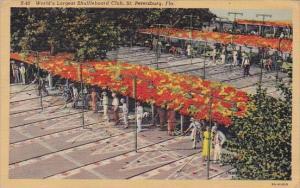 Florida Saint Petersburg World's Largest Shuffleboard Club 1947