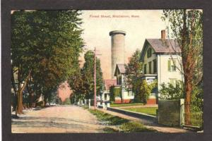 MA View of Forest St Street MIDDLEBORO MASS PC Postcard