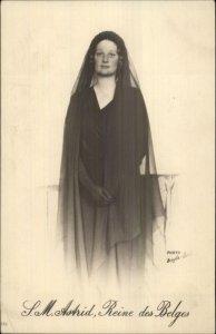 Queen of Belgium SM Astrid c1910 Real Photo Postcard