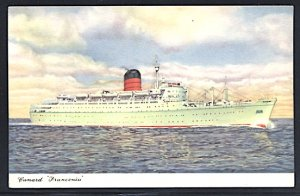 Cunard Lines RMS Franconia the Latest Ship With This Name  Postcard