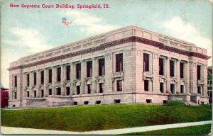 Springfield IL New Supreme Court Building Postcard unused (13878)