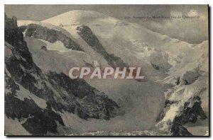 Old Postcard Mont Blanc summit saw Chamonix