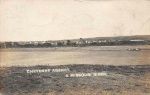 LP03 Eagle Butte ?  South Dakota Vintage RPPC Postcard Cheyenne Indian Agency