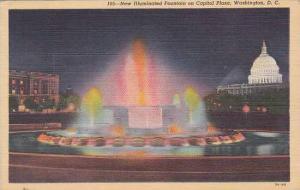 Washington DC New Illuminated Fountain On Capitol Plaza 1945