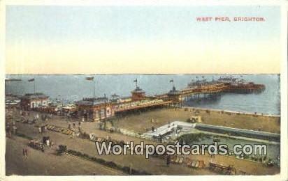 West Pier Brighton UK, England, Great Britain Writing on back