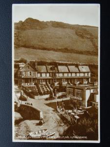 Devon HELE nr Ilfracombe shows NAT LEWIS CAFE c1928 RP Postcard by Valentine