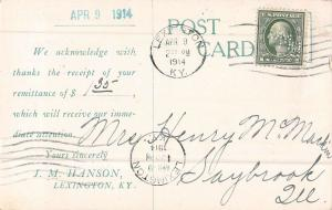 Lexington Kentucky J.M. Hanson Magazine Agency Antique Postcard (J32037)