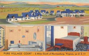 LPS33 Harrisonburg Virginia Pure Village Court Postcard Views