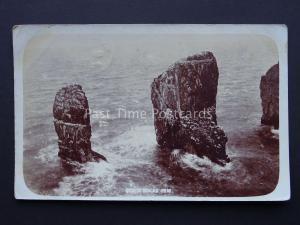 Pembrokeshire Stack Rocks (Elegug Stacks) Castlemartin c1905 RP Postcard