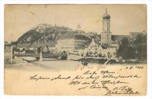 Gruss aus Graz Austria, PU-1897 , Der Schlossberg