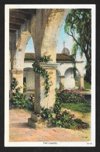 Chapel Mission San Juan Capistrano CA Unused c1920s