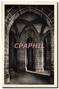 Le Mont Saint Michel - Crypt of the large pillars - Old Postcard
