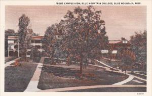 Mississippi Blue Mountain Front Campus View Blue Mountain College Curteich