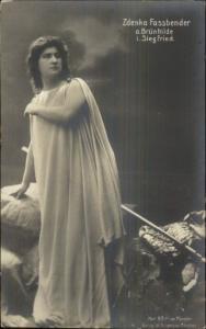 Opera? Zdenka Fassbender c1910 Real Photo Postcard
