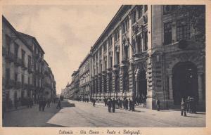 Catania , Italy , 00-10s ; Via Etnea , Poste e Telegraf