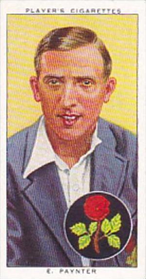 Player Cigarette Card Cricketers 1938 No 19 E Paynter &  England