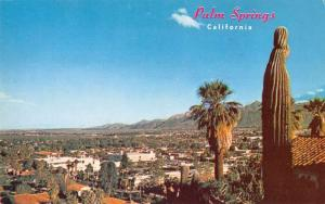 Palm Springs California Panorama View Vintage Postcard J46126