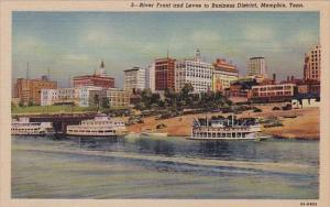River Front And Levee To Business District Memphis Tennessee