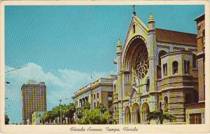 Sacred Heart Catholic Church On Florida Avenue Looking North Tampa Florida