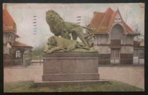 Entrance to the Zoological Garden, Phila. Pa. 1909
