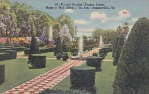 Florida Jacksonville Formal Garden Epping Forest Home Of Mrs Alfred I du Pont...