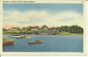 Bailey Island, Maine, Steamer at Wharf
