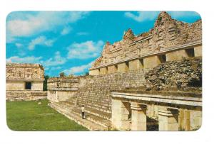 Mexico Yucatan Uxmal Temple of Venus Quadrangle of the Nuns Postcard