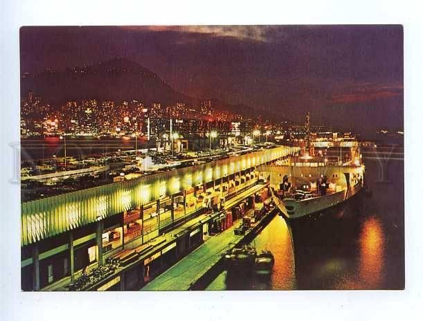 179672 Ocean Terminal looking at Hong Kong old postcard