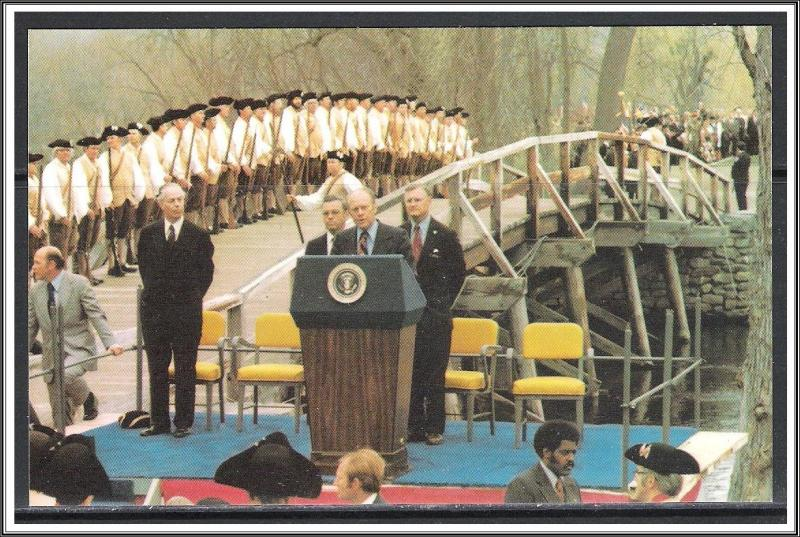 President Gerald R Ford Celebration at the Old North Bridge Concord