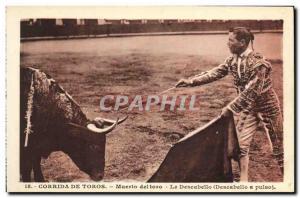 Old Postcard Sport Spain Bullfight Toro Taurus Murto Deltoro The descabello
