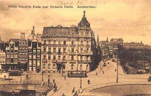 Prins Hendrik Kade met Victoria Hotel Amsterdam Holland Unused