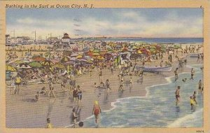 New Jersey Ocean City Bathing In The Surf