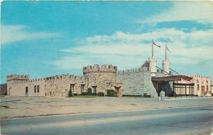 Olean New York~The Castle Restaurant Battlements~1950s Postcard
