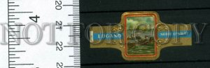 500043 SWITZERLAND LUGANO Vintage embossed cigar label