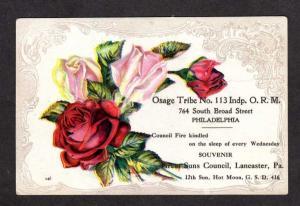 PHILADELPHIA PENNSYLVANIA PA Osage Indian Tribe Penn Postcard Lancaster Vintage